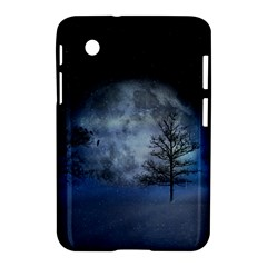 Winter Wintry Moon Christmas Snow Samsung Galaxy Tab 2 (7 ) P3100 Hardshell Case  by Celenk