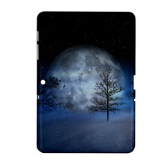 Winter Wintry Moon Christmas Snow Samsung Galaxy Tab 2 (10 1 ) P5100 Hardshell Case  by Celenk
