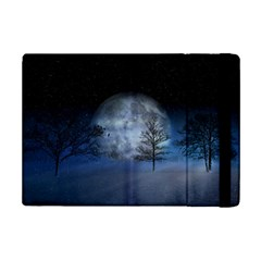 Winter Wintry Moon Christmas Snow Ipad Mini 2 Flip Cases by Celenk