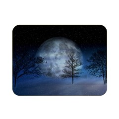 Winter Wintry Moon Christmas Snow Double Sided Flano Blanket (mini)  by Celenk
