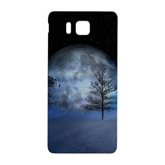 Winter Wintry Moon Christmas Snow Samsung Galaxy Alpha Hardshell Back Case by Celenk