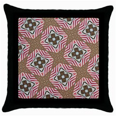 Pattern Texture Moroccan Print Throw Pillow Case (black) by Celenk