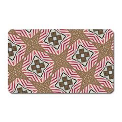 Pattern Texture Moroccan Print Magnet (rectangular) by Celenk