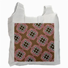 Pattern Texture Moroccan Print Recycle Bag (two Side)  by Celenk