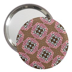 Pattern Texture Moroccan Print 3  Handbag Mirrors by Celenk