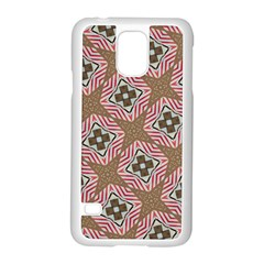 Pattern Texture Moroccan Print Samsung Galaxy S5 Case (white) by Celenk