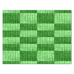 Wool Ribbed Texture Green Shades Rectangular Jigsaw Puzzl by Celenk