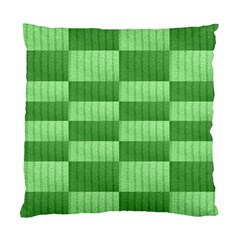 Wool Ribbed Texture Green Shades Standard Cushion Case (two Sides)