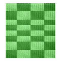 Wool Ribbed Texture Green Shades Shower Curtain 66  X 72  (large)  by Celenk