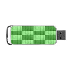 Wool Ribbed Texture Green Shades Portable Usb Flash (two Sides) by Celenk
