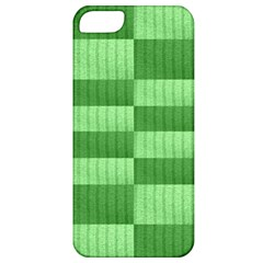 Wool Ribbed Texture Green Shades Apple Iphone 5 Classic Hardshell Case by Celenk