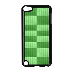 Wool Ribbed Texture Green Shades Apple Ipod Touch 5 Case (black) by Celenk