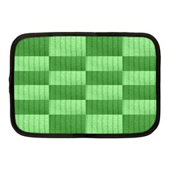 Wool Ribbed Texture Green Shades Netbook Case (medium)  by Celenk