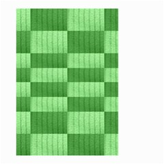 Wool Ribbed Texture Green Shades Small Garden Flag (two Sides) by Celenk