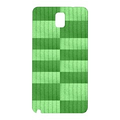 Wool Ribbed Texture Green Shades Samsung Galaxy Note 3 N9005 Hardshell Back Case by Celenk