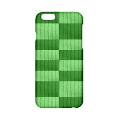 Wool Ribbed Texture Green Shades Apple Iphone 6/6s Hardshell Case by Celenk