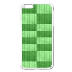 Wool Ribbed Texture Green Shades Apple Iphone 6 Plus/6s Plus Enamel White Case by Celenk