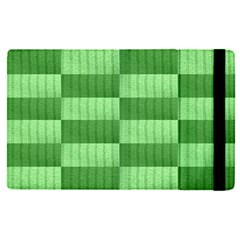 Wool Ribbed Texture Green Shades Apple Ipad Pro 9 7   Flip Case by Celenk