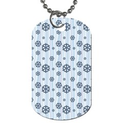 Snowflakes Winter Christmas Card Dog Tag (one Side)
