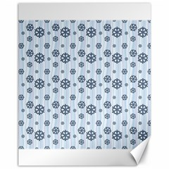 Snowflakes Winter Christmas Card Canvas 11  X 14   by Celenk