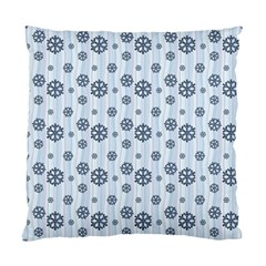 Snowflakes Winter Christmas Card Standard Cushion Case (two Sides) by Celenk
