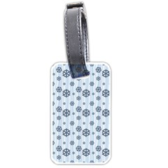 Snowflakes Winter Christmas Card Luggage Tags (one Side)  by Celenk