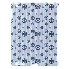 Snowflakes Winter Christmas Card Apple Ipad 3/4 Hardshell Case (compatible With Smart Cover) by Celenk