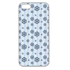 Snowflakes Winter Christmas Card Apple Seamless Iphone 5 Case (clear)