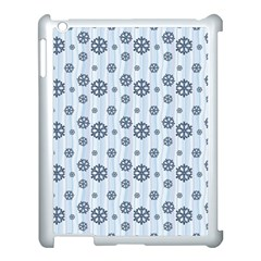 Snowflakes Winter Christmas Card Apple Ipad 3/4 Case (white) by Celenk