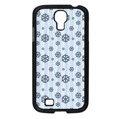 Snowflakes Winter Christmas Card Samsung Galaxy S4 I9500/ I9505 Case (black) by Celenk