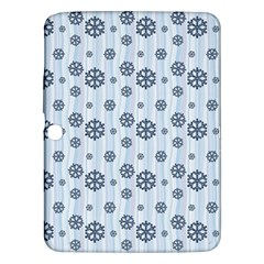 Snowflakes Winter Christmas Card Samsung Galaxy Tab 3 (10 1 ) P5200 Hardshell Case  by Celenk