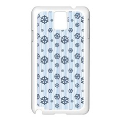 Snowflakes Winter Christmas Card Samsung Galaxy Note 3 N9005 Case (white) by Celenk