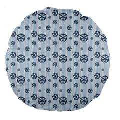 Snowflakes Winter Christmas Card Large 18  Premium Flano Round Cushions by Celenk