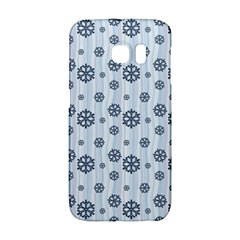 Snowflakes Winter Christmas Card Galaxy S6 Edge by Celenk