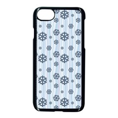 Snowflakes Winter Christmas Card Apple Iphone 7 Seamless Case (black)