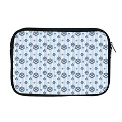 Snowflakes Winter Christmas Card Apple Macbook Pro 17  Zipper Case by Celenk