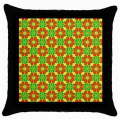 Pattern Texture Christmas Colors Throw Pillow Case (black)