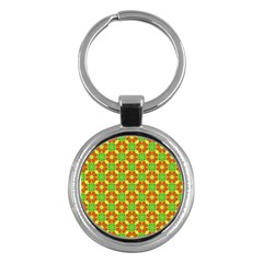 Pattern Texture Christmas Colors Key Chains (round)