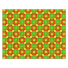 Pattern Texture Christmas Colors Rectangular Jigsaw Puzzl by Celenk