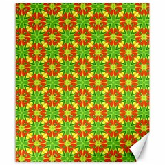 Pattern Texture Christmas Colors Canvas 8  X 10  by Celenk