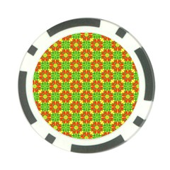 Pattern Texture Christmas Colors Poker Chip Card Guard (10 Pack)