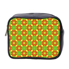 Pattern Texture Christmas Colors Mini Toiletries Bag 2 Side
