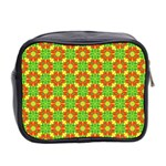 Pattern Texture Christmas Colors Mini Toiletries Bag 2-Side Back
