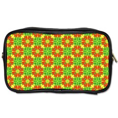 Pattern Texture Christmas Colors Toiletries Bags 2 Side by Celenk