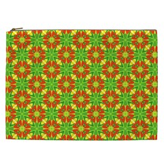Pattern Texture Christmas Colors Cosmetic Bag (xxl)