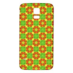 Pattern Texture Christmas Colors Samsung Galaxy S5 Back Case (white)