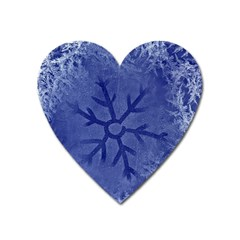 Winter Hardest Frost Cold Heart Magnet