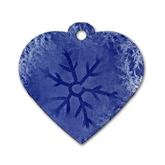 Winter Hardest Frost Cold Dog Tag Heart (two Sides) by Celenk