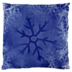 Winter Hardest Frost Cold Large Cushion Case (two Sides) by Celenk
