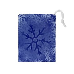 Winter Hardest Frost Cold Drawstring Pouches (medium)  by Celenk